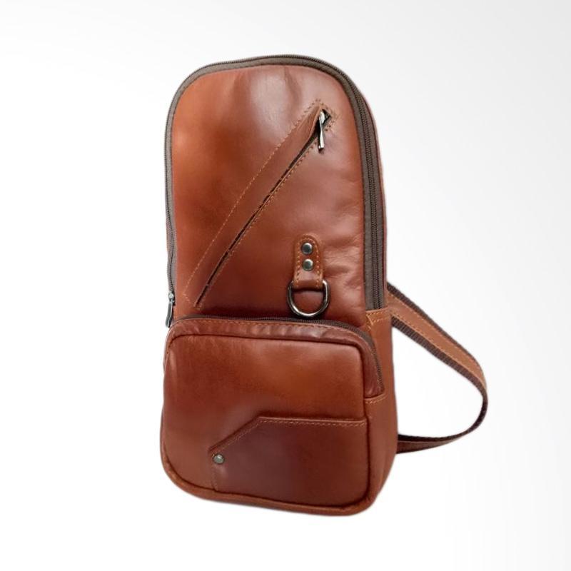 Hunter Design Kulit Tas Selempang - Brown [01181]