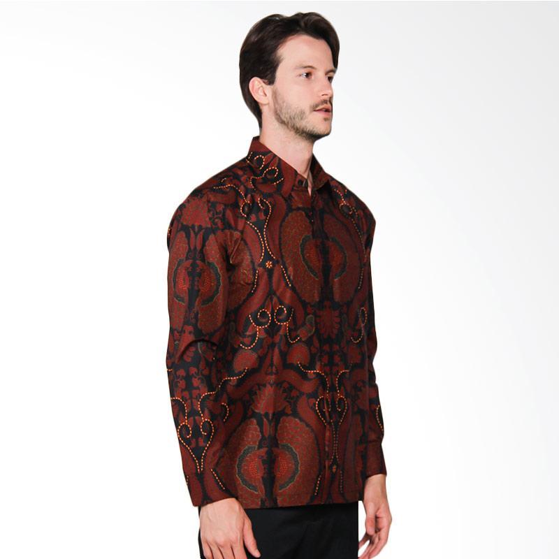 AWANA Modern Slim Fit Bayanaka Tembaga Kemeja Batik Pria