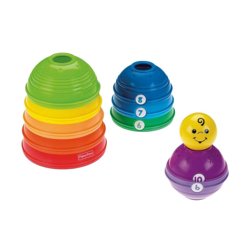 Fisher Price Brilliant Stack & Roll Mainan Bayi