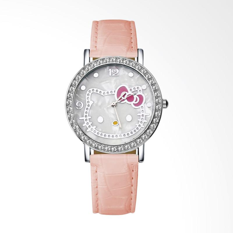 harga Hello Kitty WAT04174F Cartoon Luxury Diamond Leather Jam Tangan Wanita - Pink Blibli.com