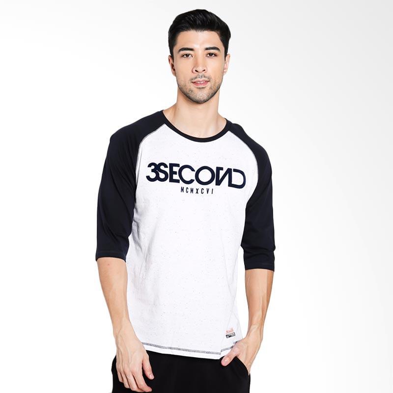 3SECOND Men 3512 T-Shirt Pria - Blue