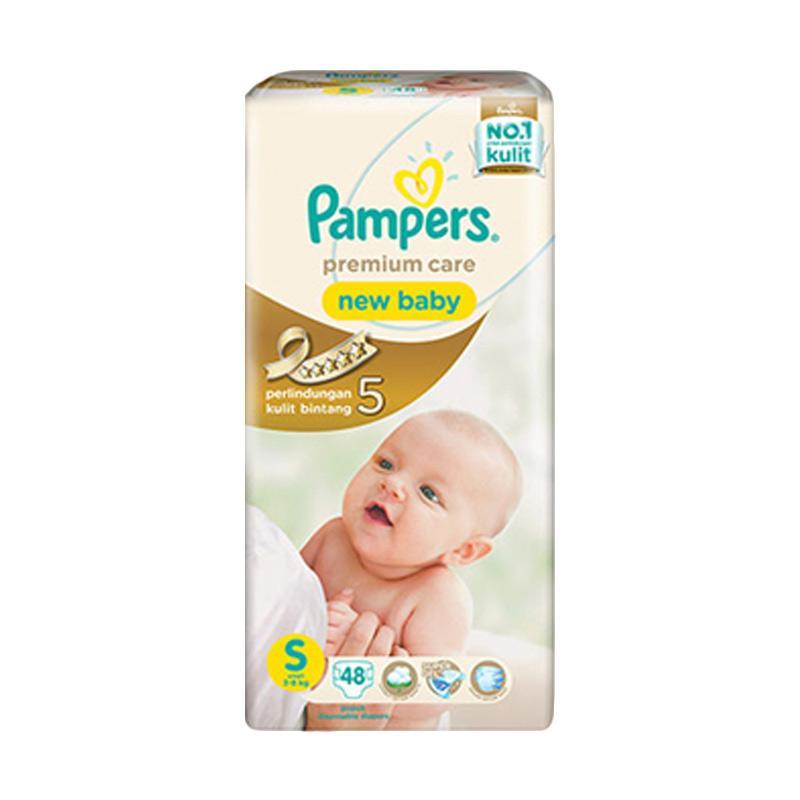 Pampers Premium Care New Baby Popok Bayi [S/48 pcs]