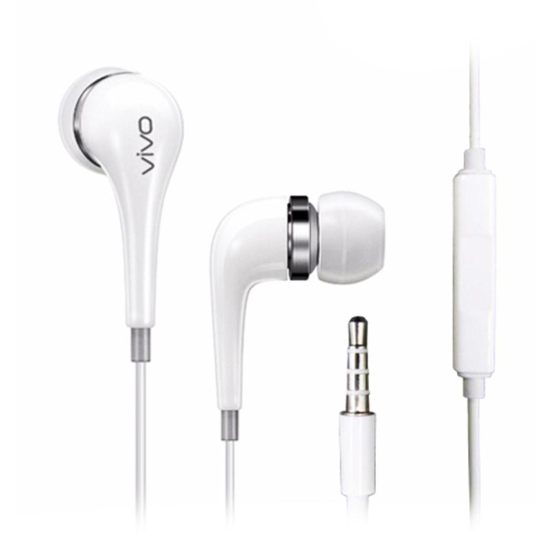 VIVO Handsfree Vivo XE600i Hi-Fi Stereo Headset Vivo Earphone Vivo Original - White