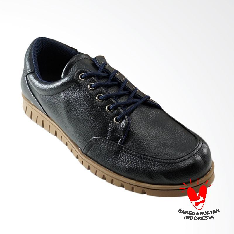 Dane And Dine Melix Sepatu Pria - Black Brown