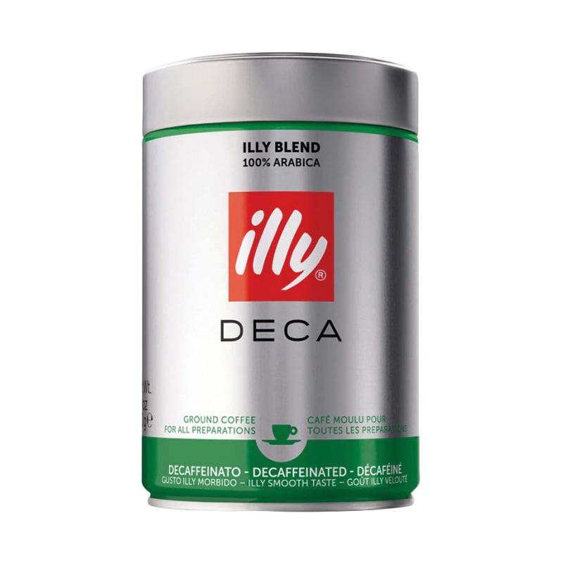 ILLY Coffee Decafeinated Ground Espresso Kopi