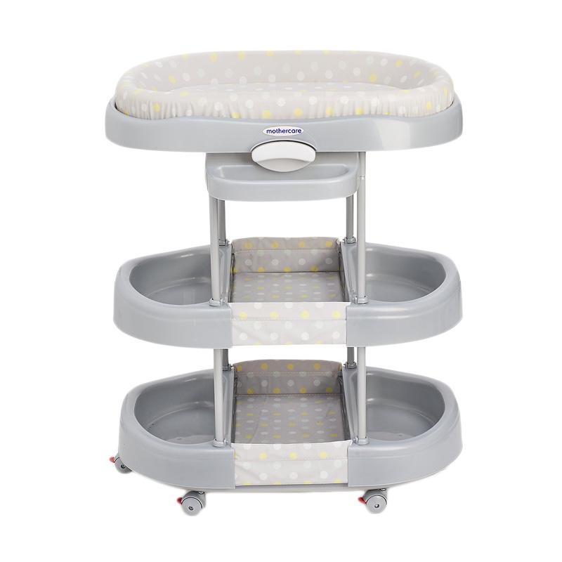 Mothercare Aqua Baby Bath Dresser - Polka Grey