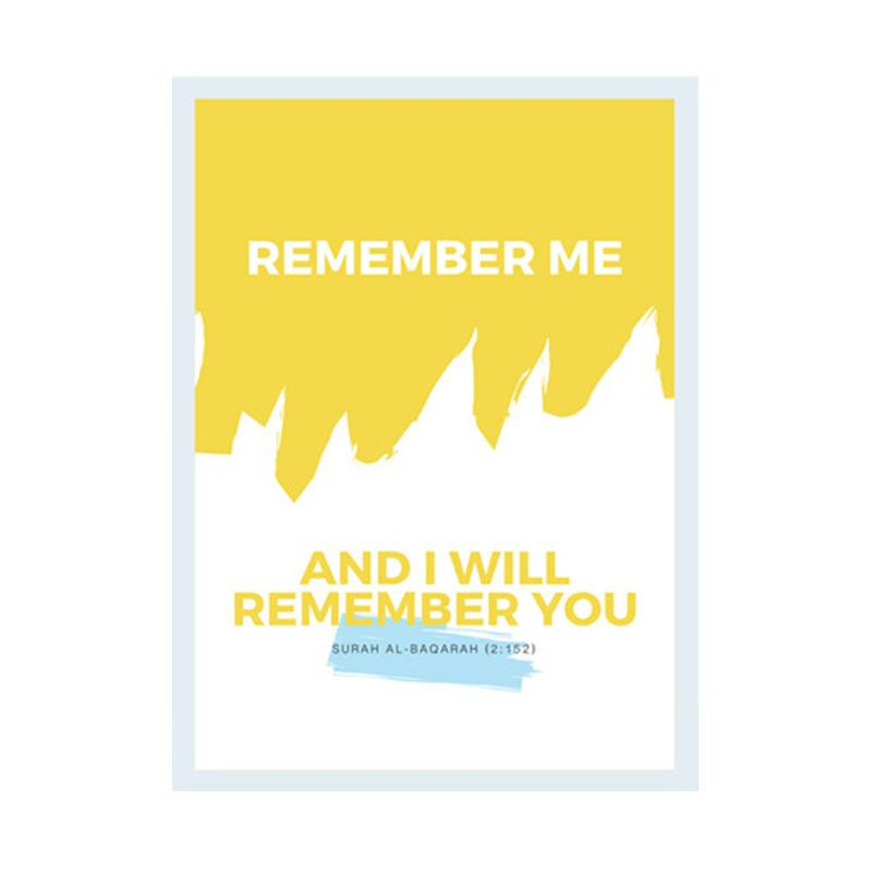 Cadrehome Remember Me And I Will Remember You A4 Dekorasi Dinding