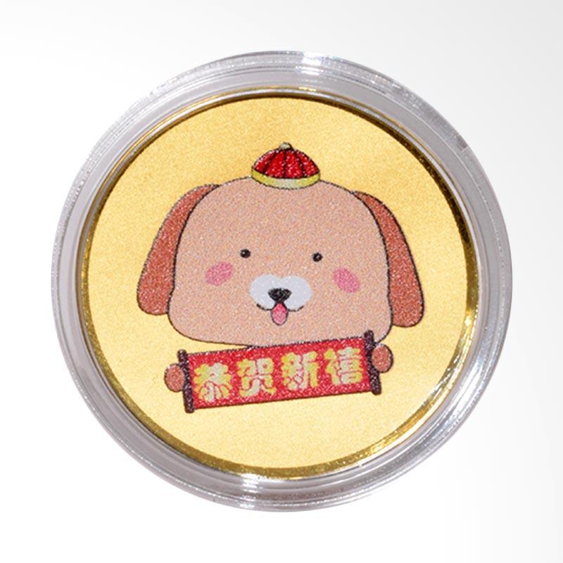Tiaria 24K Happy New Year Dog Coin Logam Mulia Emas Murni [0.2 g]