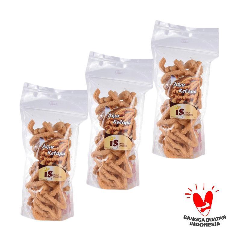 harga IS Snack Crackers Akar Kelapa Makanan Kering [3 pcs] Blibli.com
