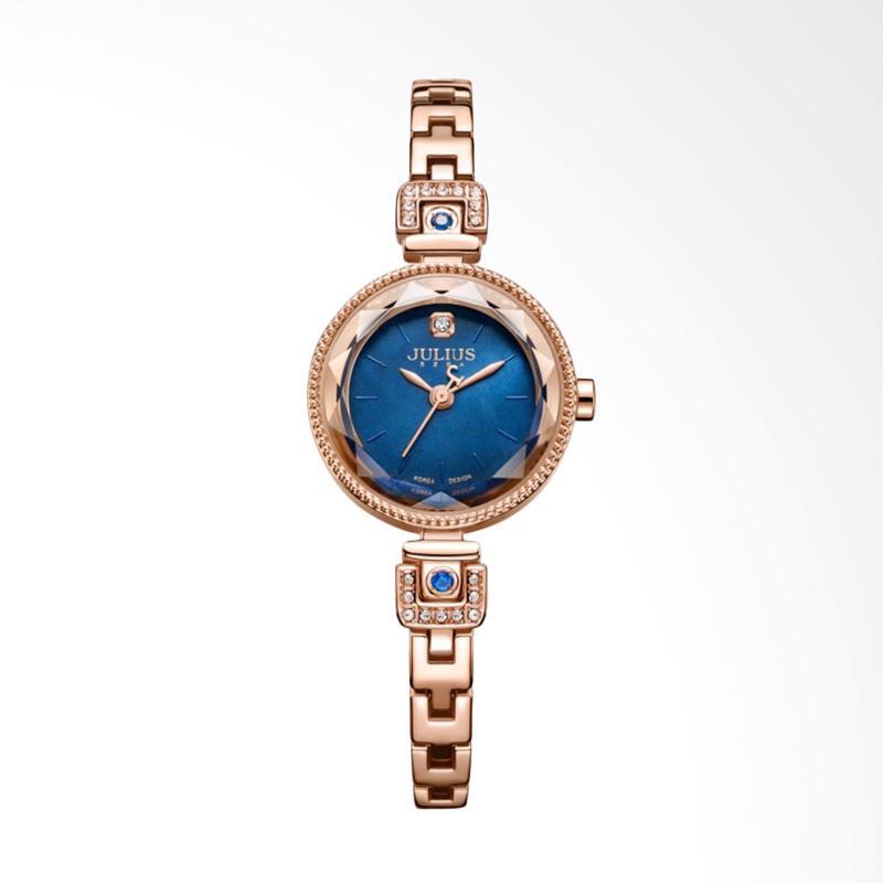 Julius JA-981-D Jam Tangan Wanita - Rose Gold Blue