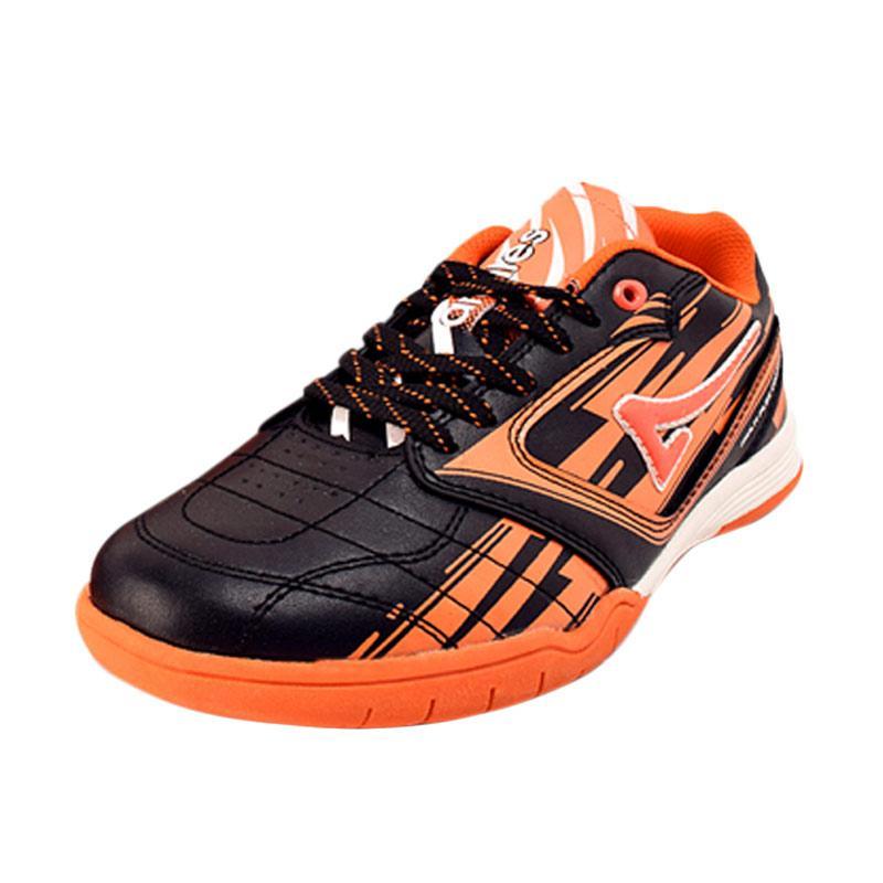 Ardiles Men Lozano Sepatu Futsal Pria - Black Orange