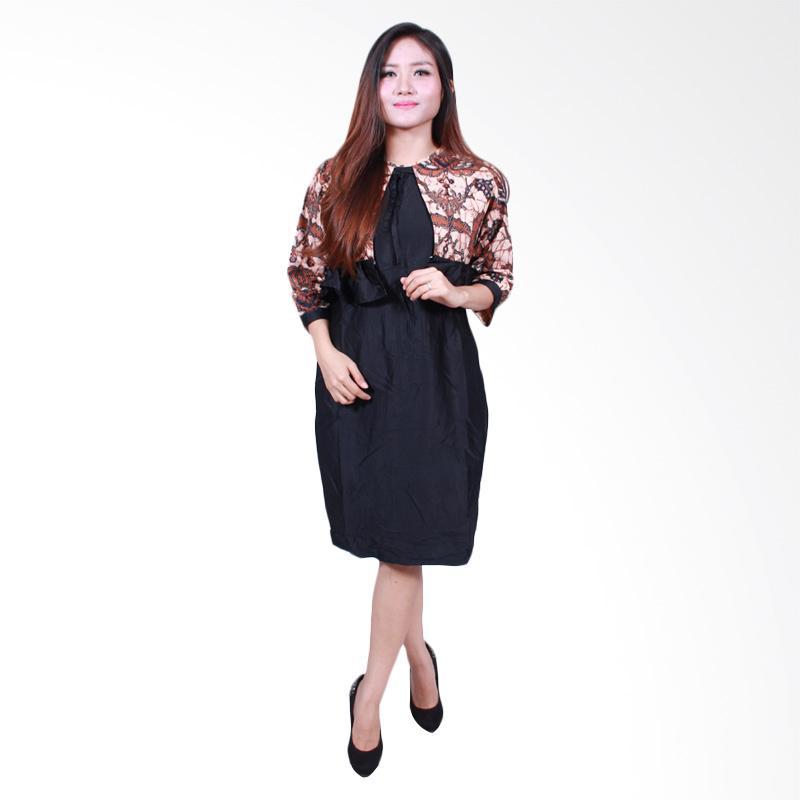 Batik Putri Ayu Solo D502-D Midi Dress Batik
