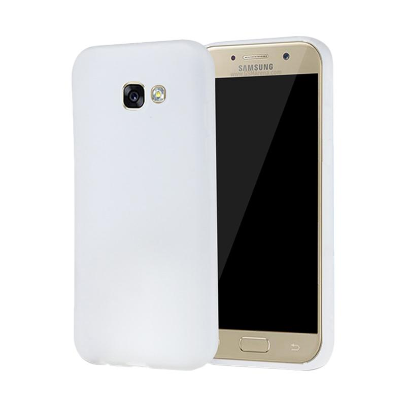 Lize Design Slim Anti Glare Silikon Casing for Samsung Galaxy A520 A5 2017 - White