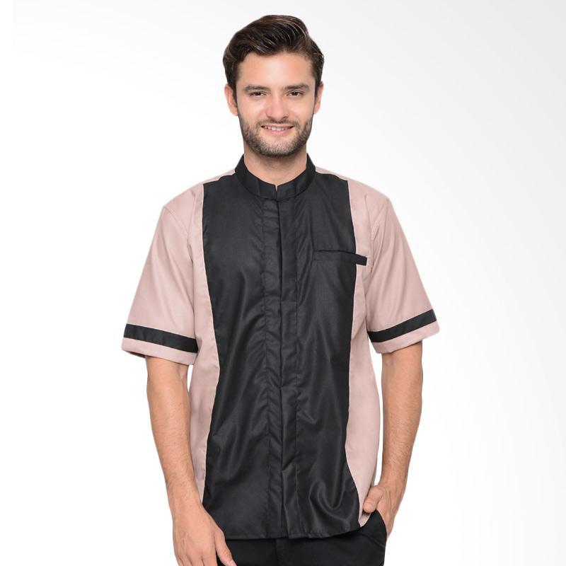 Allev Masrur Shirt Baju Koko Pria - Mocca Hitam