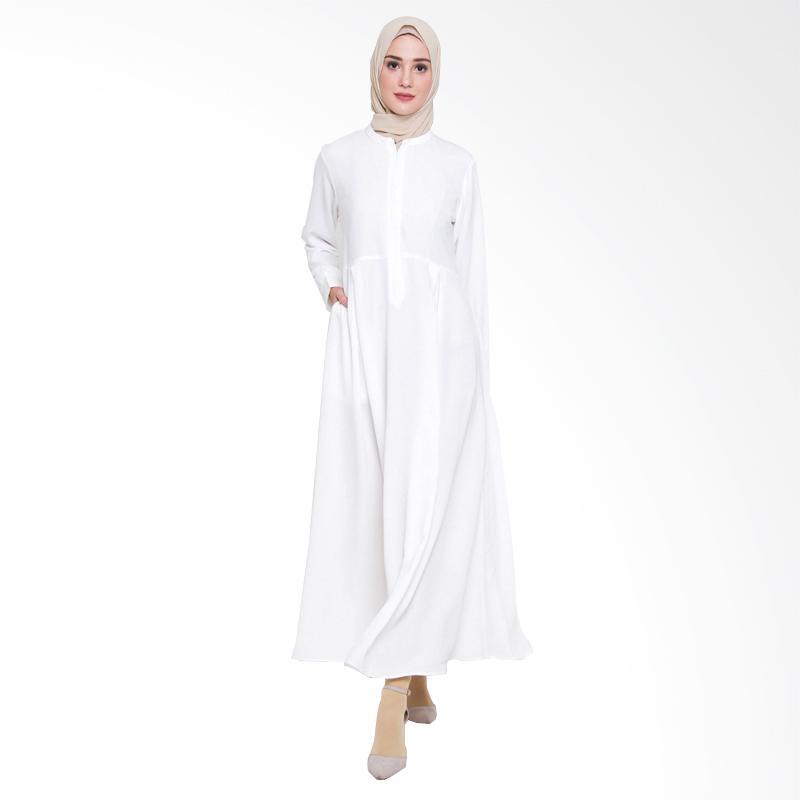 Allev Husnia Dress Muslim Wanita - Putih