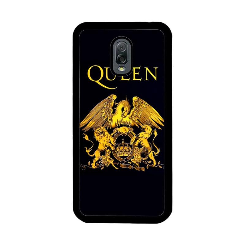 Flazzstore Queen Logo Gold Z0260 Custom Casing for Samsung Galaxy J7 Plus