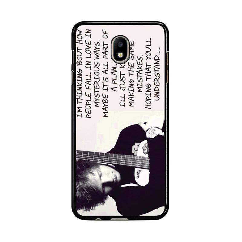 Flazzstore Thinking Out Loud Ed Sheeran Lyric F0702 Custom Casing for Samsung Galaxy J7 Pro 2017