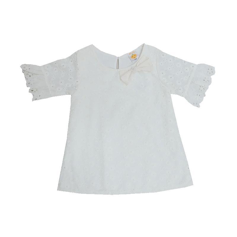harga PLEU Brokat Renda Dress Anak - Broken White Blibli.com