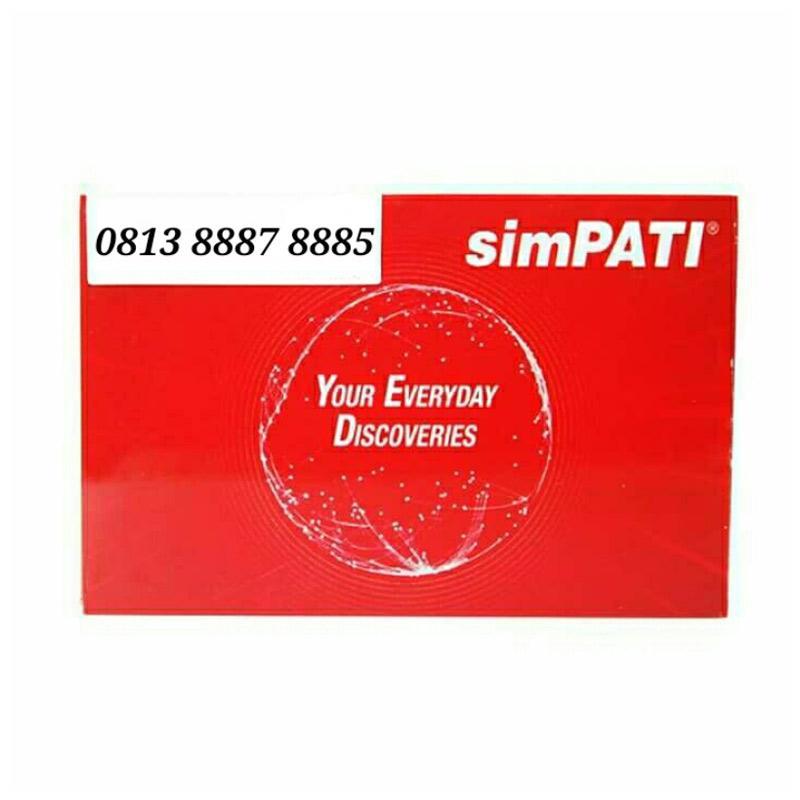 Telkomsel Simpati Nomor Cantik 0813 8887 8885 Kartu Perdana [4G LTE]
