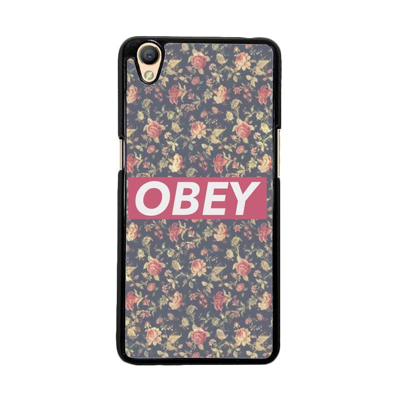 Flazzstore Obey Floral O0727 Custom Casing for Oppo Neo 9 A37