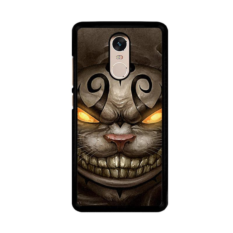 Flazzstore Alice Madness Returns Cheshire Cat Z0999 Custom Casing for Xiaomi Redmi Note 4 or Note 4X Snapdragon Mediatek