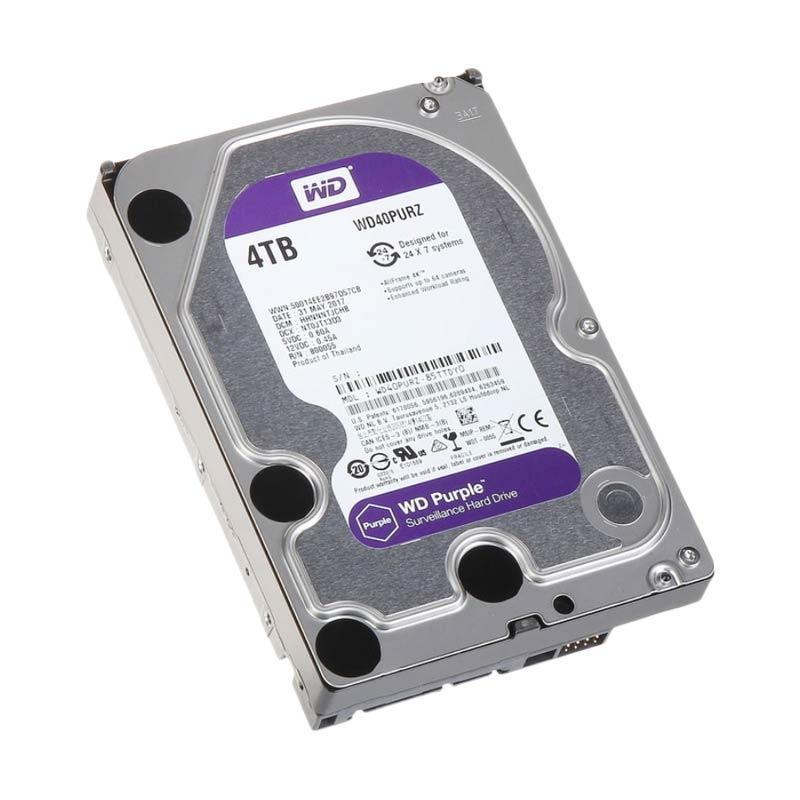 WD Surveillance CCTV Hard Disk - Purple [4 TB]