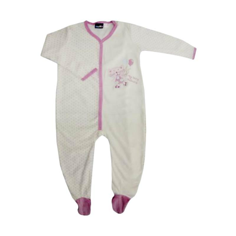 Bearhug Bordir Cat Baju Jumpsuit Bayi Perempuan - Putih [6-24M]