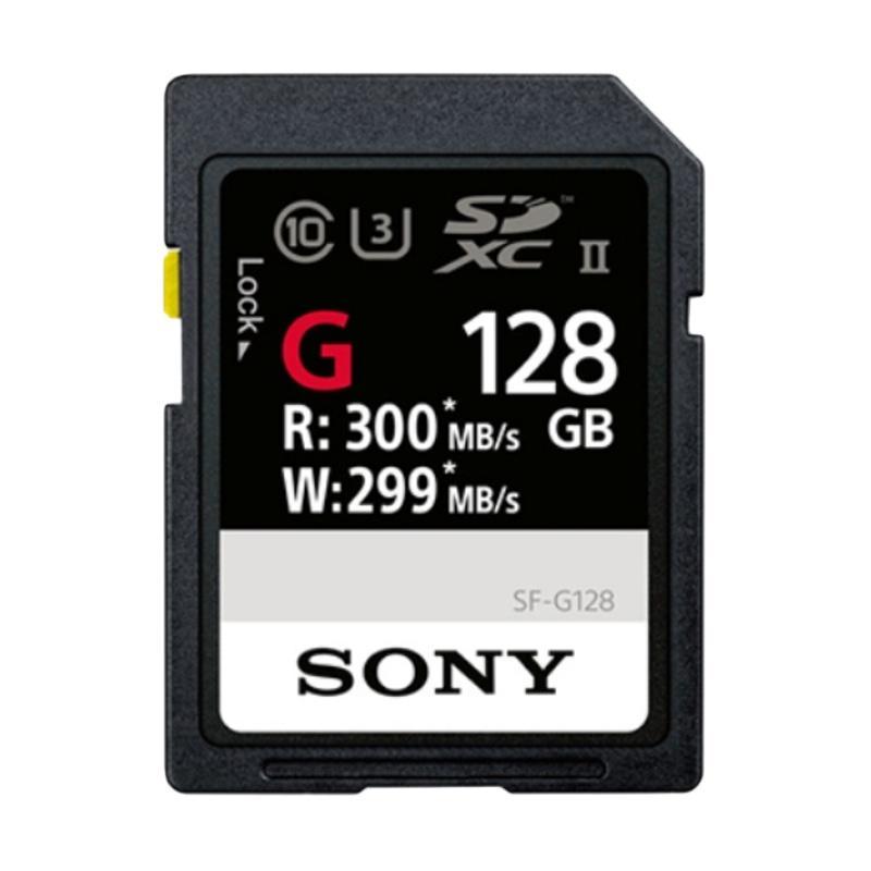 harga SONY SF-G SDXC Memory Card [Read Up to 300MB/S Write Up to 299MB/S C10, U3, UHS-II/ 128 GB] jpckemang Blibli.com
