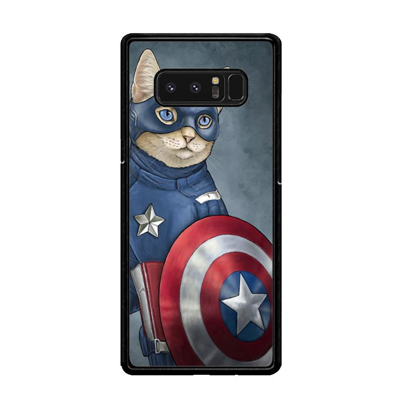 Flazzstore Captain America Cat Z0998 Custom Casing for Samsung Galaxy Note8