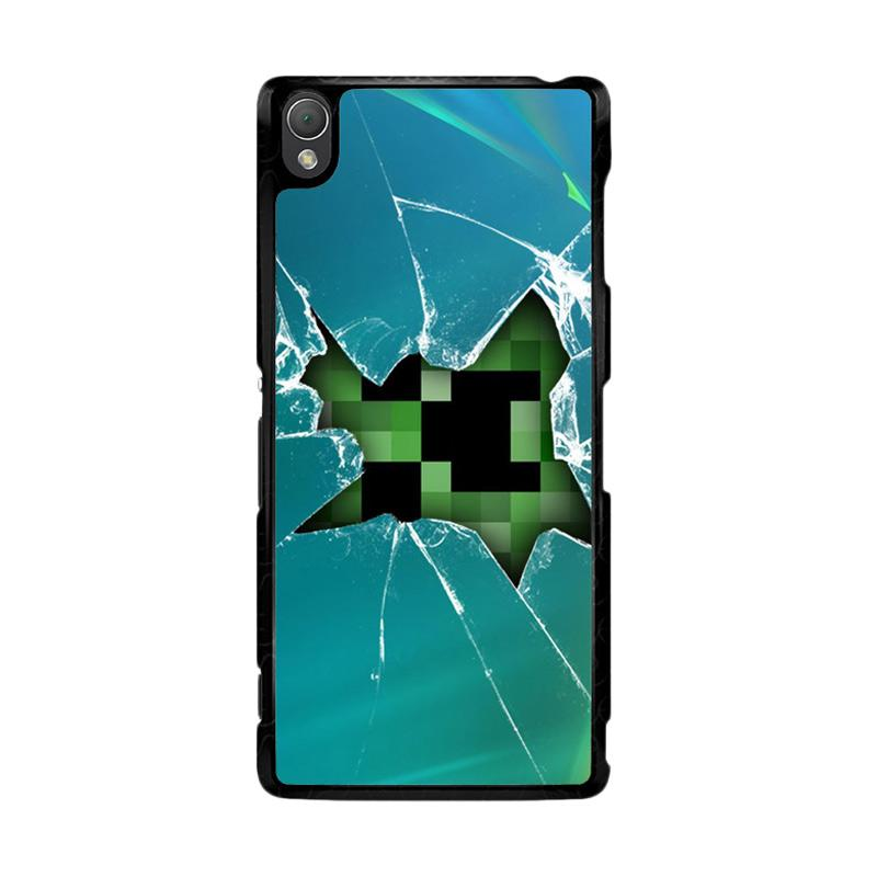 Flazzstore Minecraft Creeper Broken Glasses F0519 Custom Casing for Sony Xperia Z3