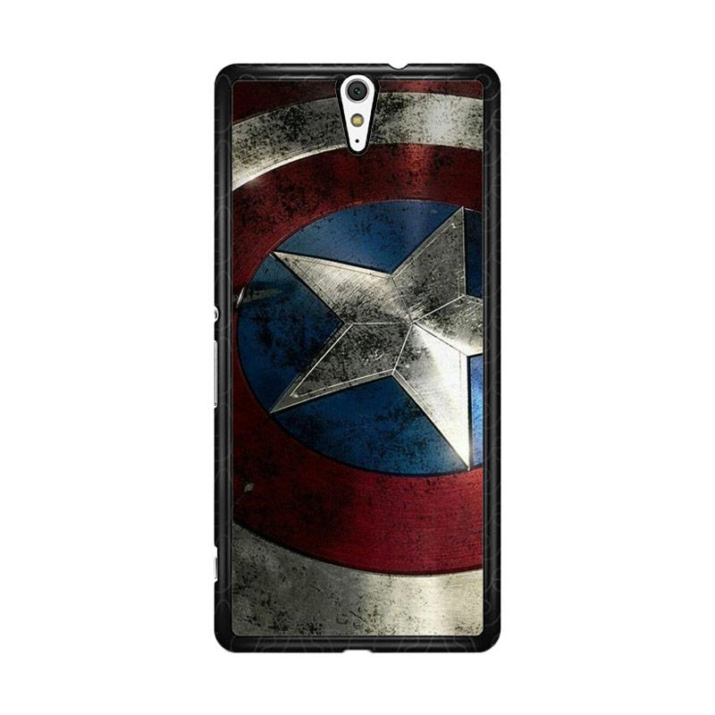 Flazzstore Captain America-0001 O0169 Custom Casing for Sony Xperia C5 Ultra