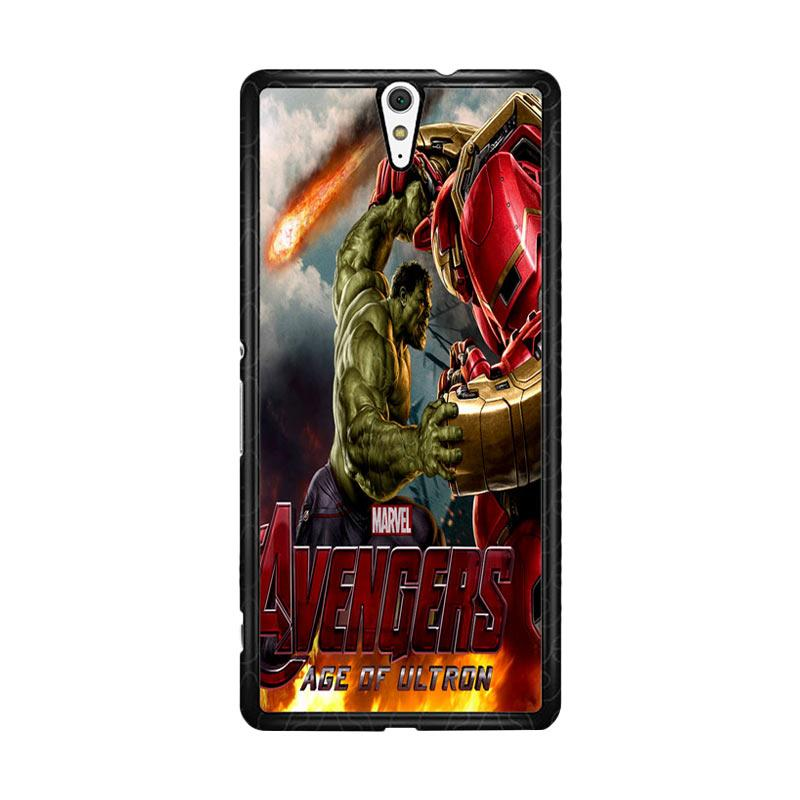 Flazzstore Hulk Vs Hulkbuster Avengers Age Of Ultron Z0742 Custom Casing for Sony Xperia C5 Ultra