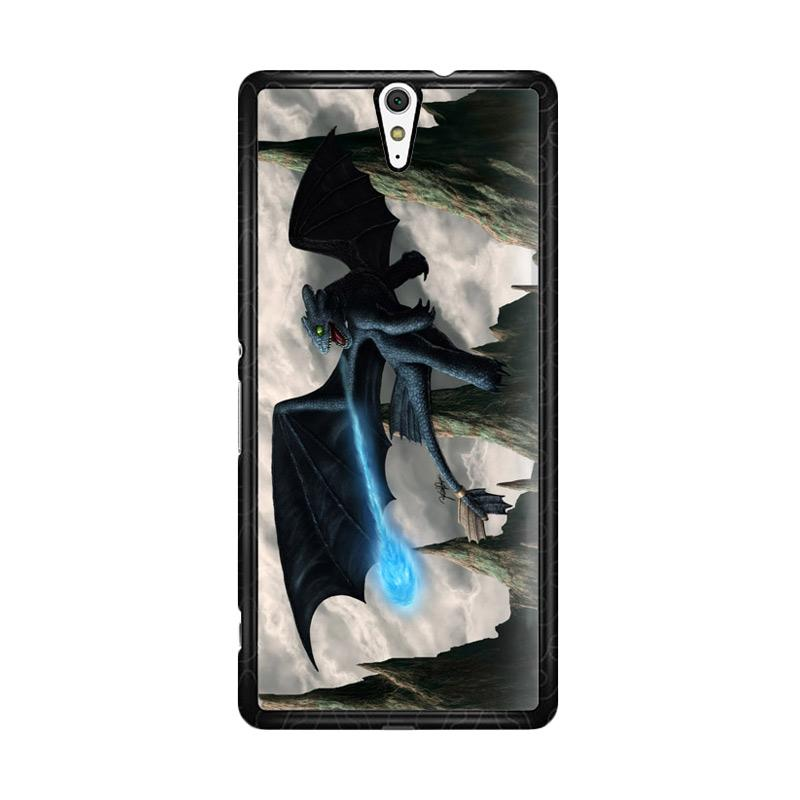 Flazzstore How To Train Your Dragon Night Fury Toothless Z0965 Custom Casing for Sony Xperia C5 Ultra