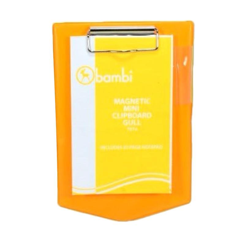 Bambi 7074 Mangnetic Gull Mini Clipboard - Orange