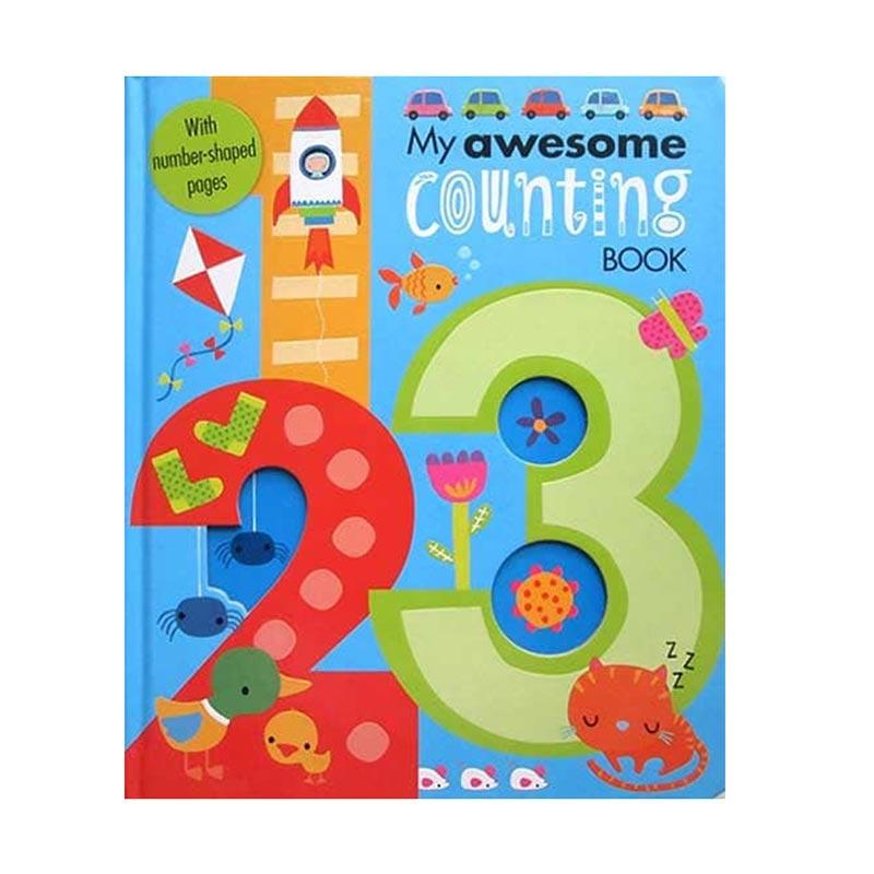 Genius My Awesome Counting Book with Letter Shaped Pages Buku Edukasi