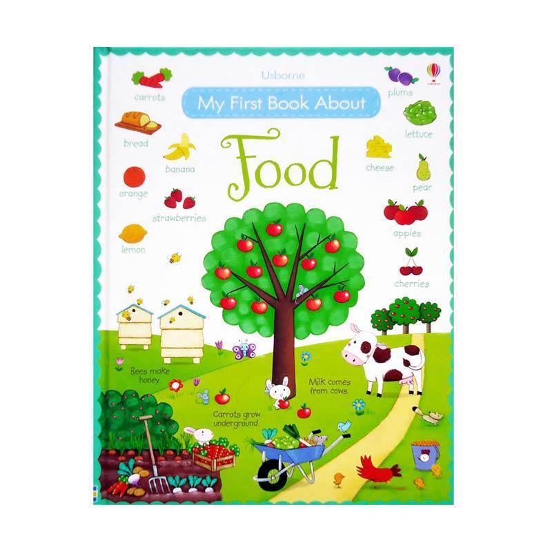Genius Usborne My First Book About Food Buku Edukasi Anak