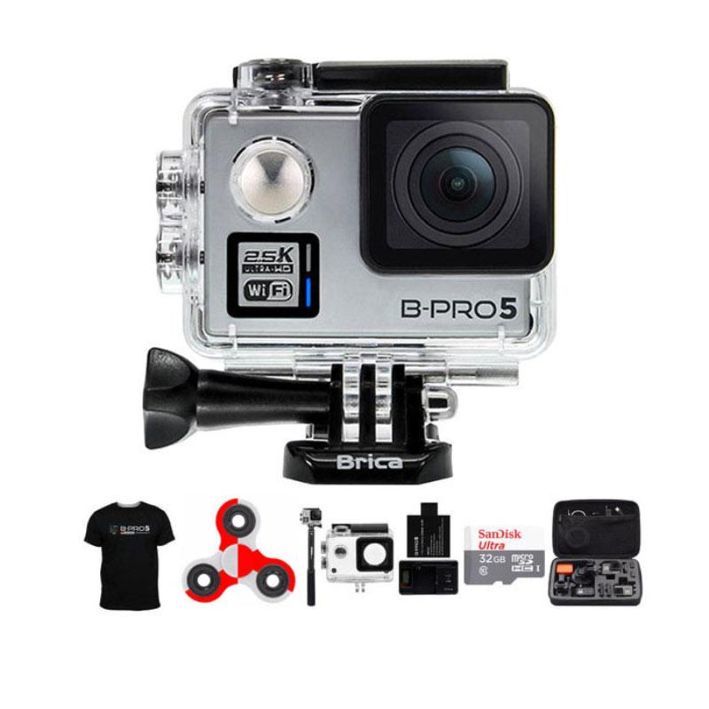 BRICA B-PRO 5 Alpha Plus 2 AP2 Action Cam Combo Attanta Extreme SpinIndo - Silver