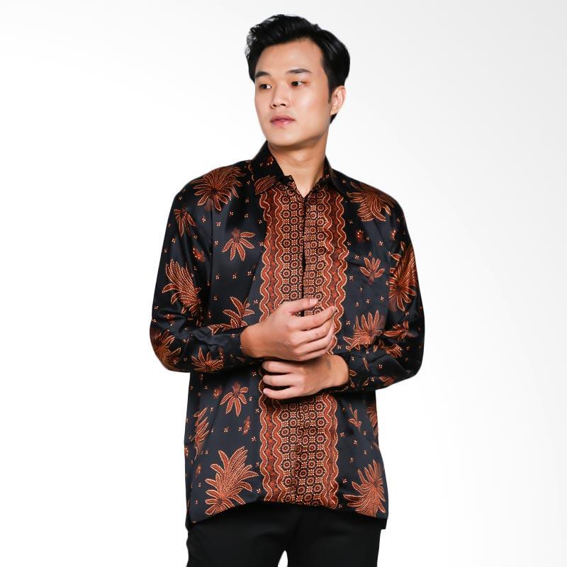 Blitique Arrav Parang Kemeja Batik Pria - Hitam