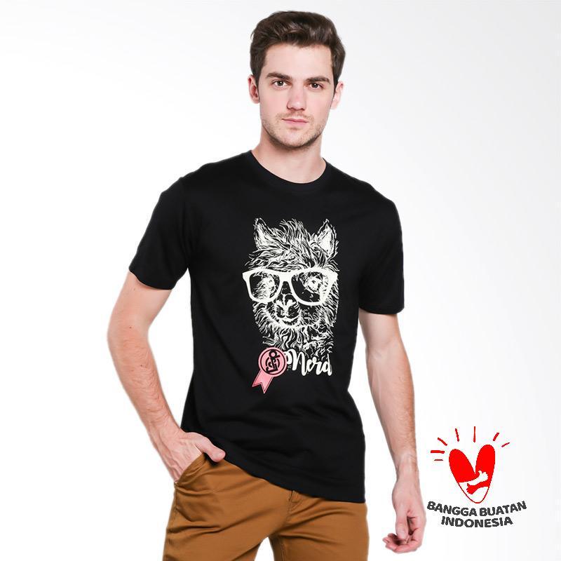 D&J Top Kaos Pria - Hitam [073]