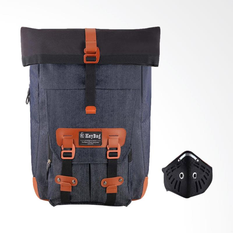 harga BLIKAN - Key Bag Moskow Bodygears Backpack - Grey + Free Masker Motor Pria Blibli.com