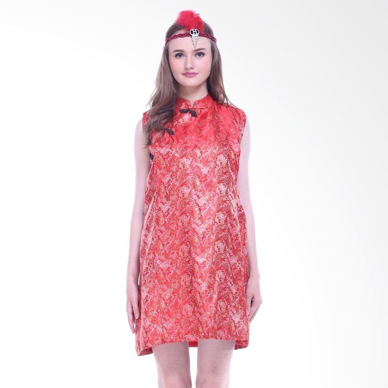 harga Shadrins Nursingstyle Shanghai Cheongsam Imlek Dress Hamil dan Menyusui - Red Blibli.com