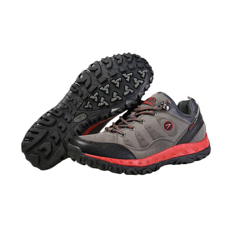 Snta Sepatu Outdoor Pria - Grey Red [Mid 428]