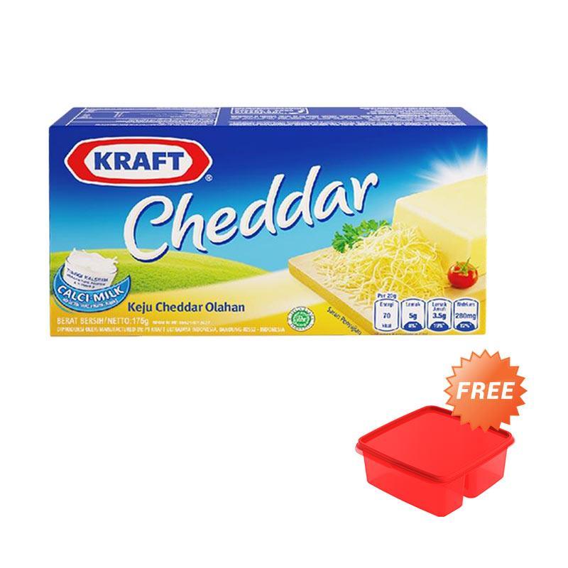 Kraft Cheddar Keju [175 g] + Free Lunch Box