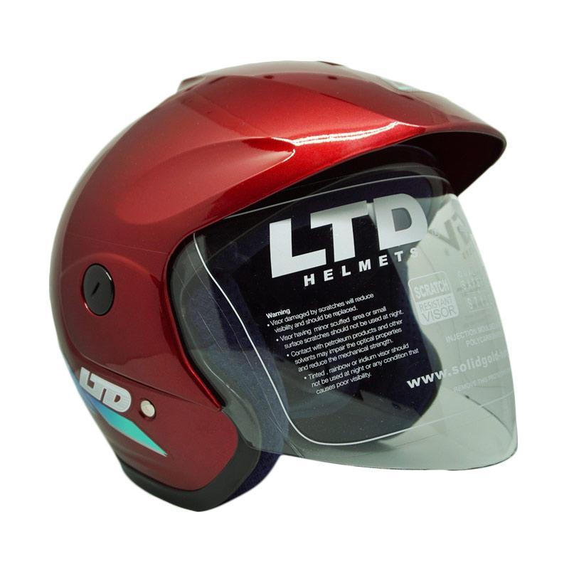 harga LTD Sports Original Helm - Red Maroon Blibli.com
