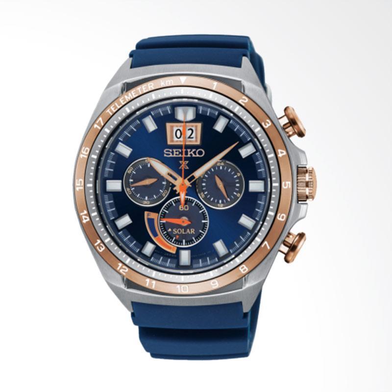 Spek Harga Seiko Prospex Solar Special Edition Jam Tangan Pria - Blue [SSC666P1] Terbaru