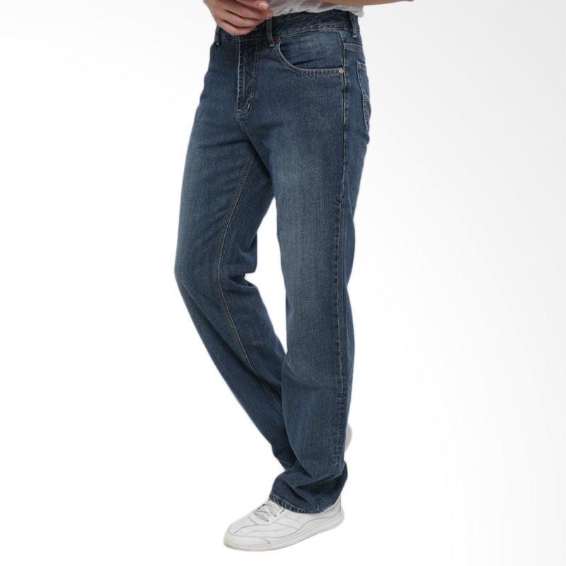 Jual Edwin Regular Fit Celana Jeans Pria Panjang - Biru Muda [EDW 512-123 BLEACH] Online - Harga & Kualitas Terjamin   Blibli.com