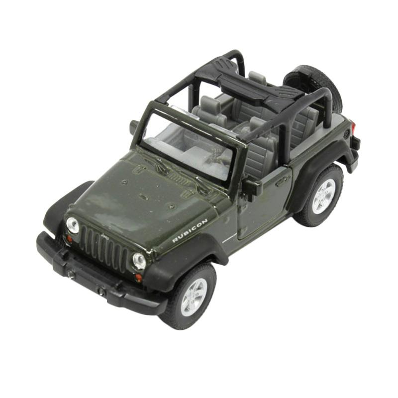 Green Jeep Wrangler >> Welly 42731c Jeep Wrangler Rubicon Top Down Convertible Diecast Green 1 36