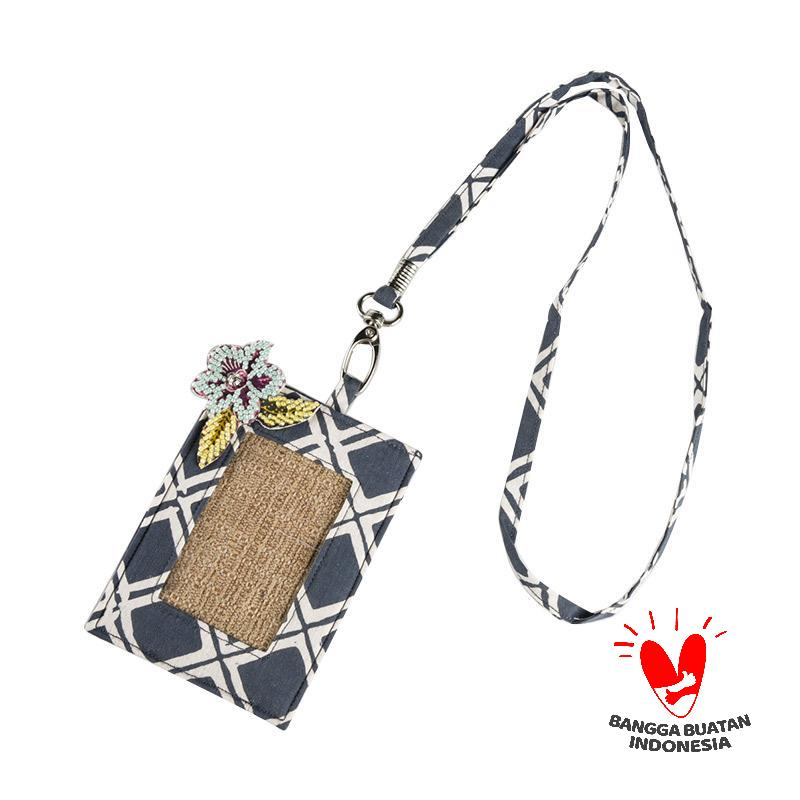 harga Origo Chain With Batik ID Card Holder - Dark Blue Blibli.com