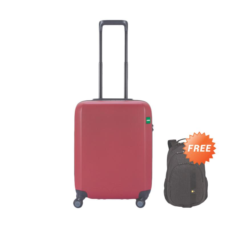Paket Bundling - Lojel Rando Zip Koper Hardcase ? Red [Small/21 Inch]