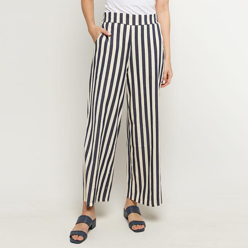 Ben Bella C50 013 Stripe Long Pants Blue White